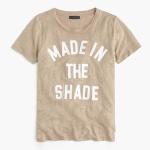 J. Crew Made In The Shade Linen Graphic T-Shirt